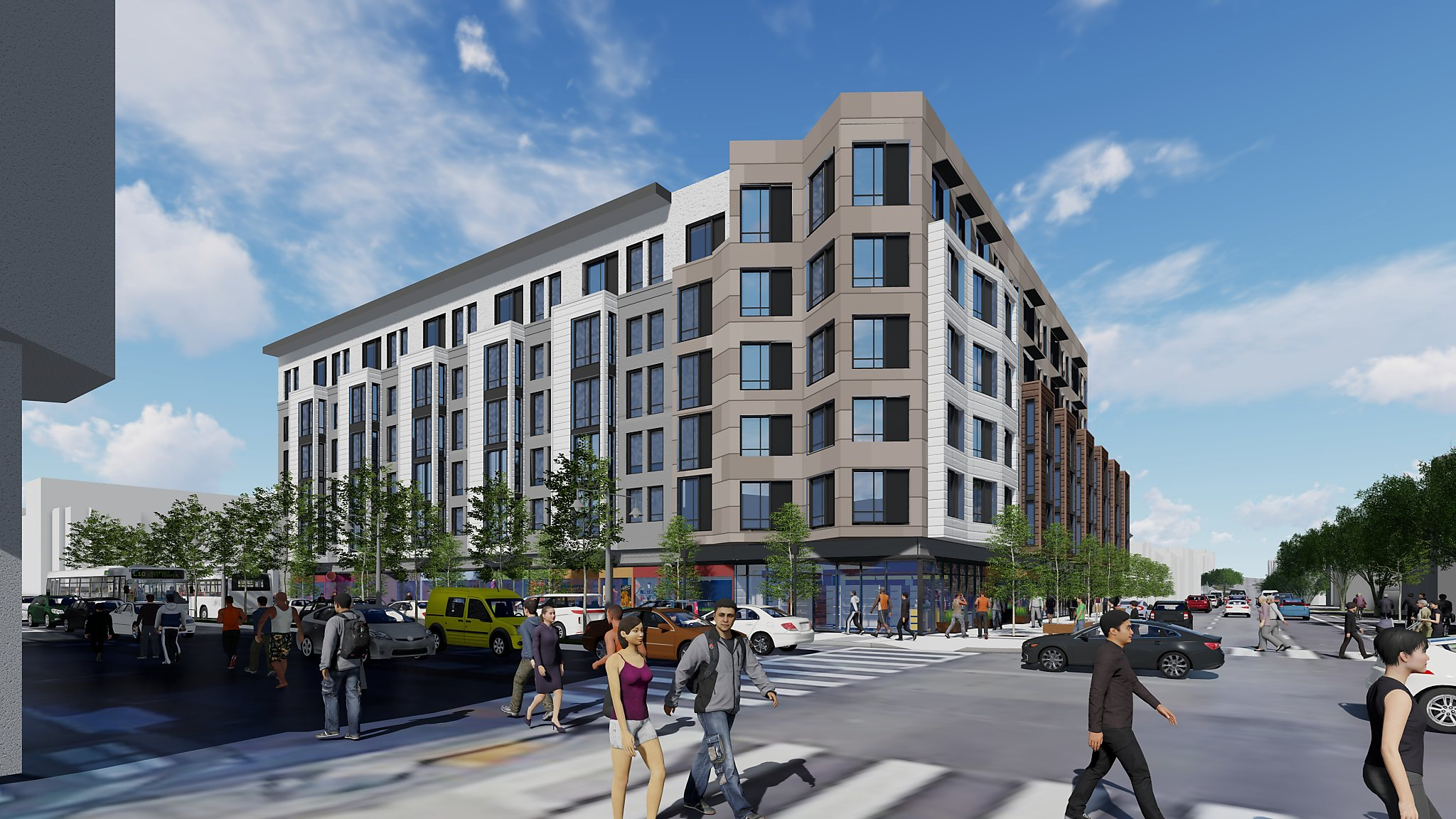 186 apartments to replace Touchless car wash on Divisadero