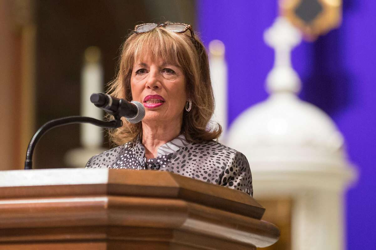 Congresswoman and Gun Violence Survivor, Jackie Speier, speaks during the Interfaith Vigil for Victims of Gun Violence, sponsored by Moms Demand Action at the St. Ignatius Catholic Church on Sunday, December 9, 2018 in San Francisco, Calif.