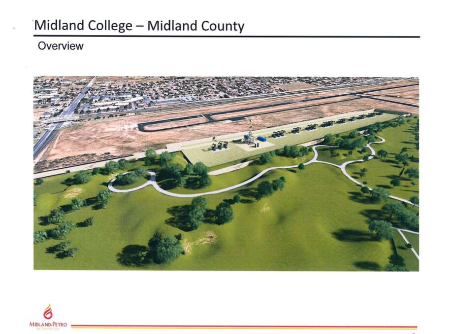 The 53.26 acres of minerals that would be put up for bid would be the location of an 11 – to 12-acre drilling site, per the lease terms. Photo: Courtesy Rendering