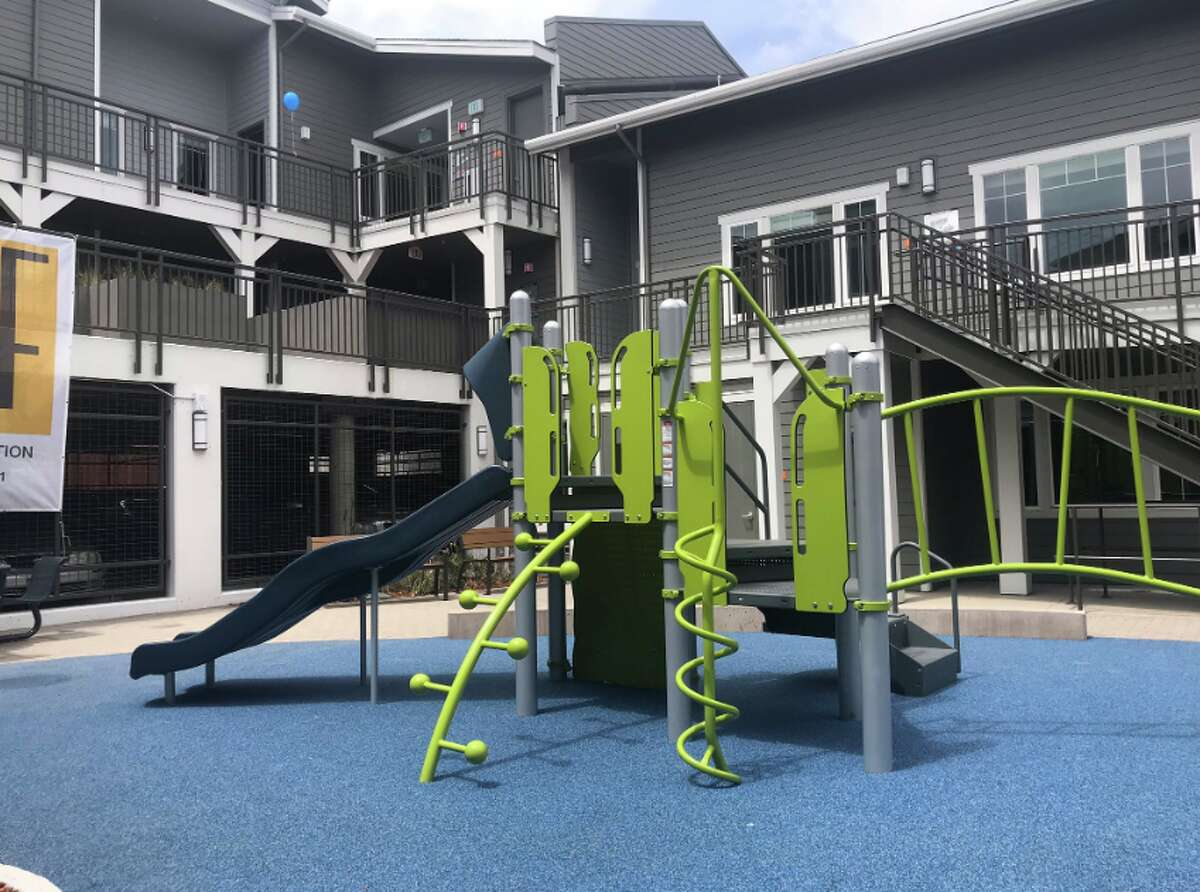 The playground at Redwood Hill Townhomes.