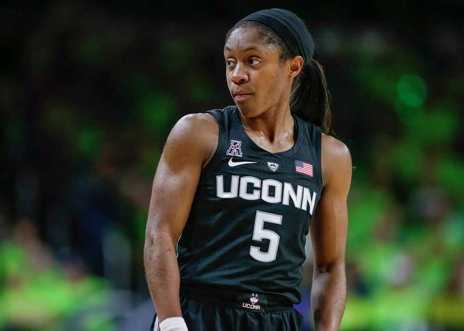 Crystal Dangerfield will be the unquestioned leader of the Huskies on and off the court next season. Photo: Michael Hickey / Getty Images / 2018 Michael Hickey 2018 Michael Hickey