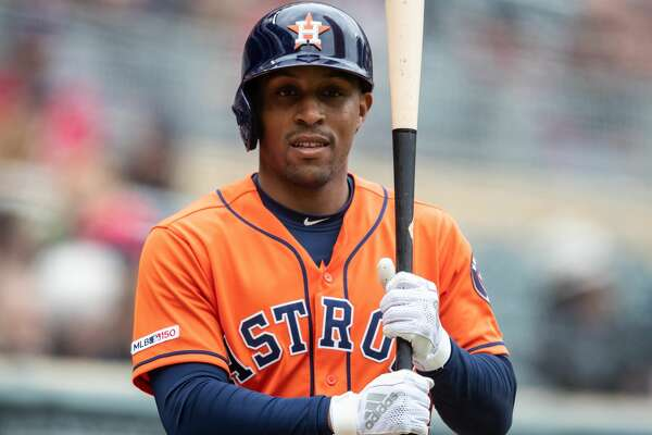 MINNEAPOLIS, MN - MAY 02: Tony Kemp #18 of the Houston Astros looks on against the Minnesota Twins on May 2, 2019 at the Target Field in Minneapolis, Minnesota. The Twins defeated the Astros 8-2. (Photo by Brace Hemmelgarn/Minnesota Twins/Getty Images)
