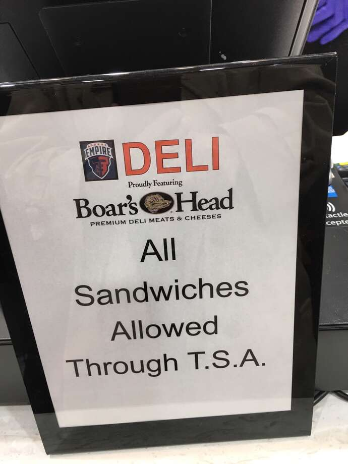 Sign at Empire Deli at Albany International Airport Photo: Eric Anderson/Times Union