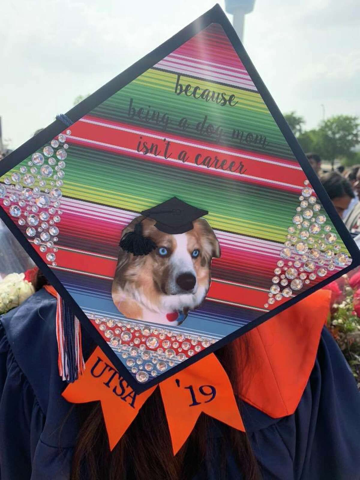 Graduation cap picture submitted by Florence Braendle Stone on Wednesday, May 22, 2019.