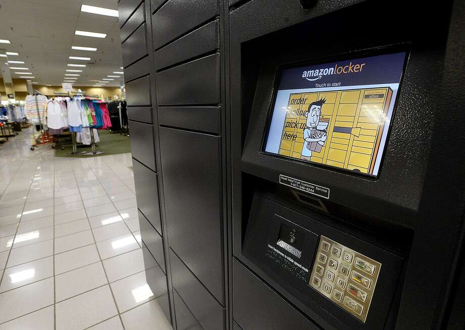 Amazon lockers were recently installed at the Stein Mart store located in the Beaumont Crossroads Center shopping complex. The lockers offer a safe alternative to home delivery for Amazon shipments. Photo taken Wednesday, May 22, 2019 Kim Brent/The Enterprise Photo: Kim Brent / The Enterprise / BEN