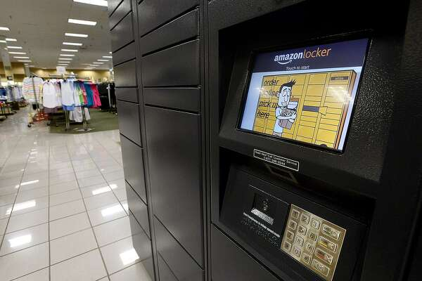 Amazon lockers were recently installed at the Stein Mart store located in the Beaumont Crossroads Center shopping complex. The lockers offer a safe alternative to home delivery for Amazon shipments. Photo taken Wednesday, May 22, 2019 Kim Brent/The Enterprise