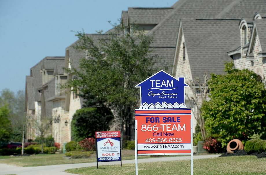 Realty signs line a portion of a street in the Barrington Heights subdivision, one of the recent housing developments underway in Beaumont. The city was recently listed fourth on a list of most affordfable housing markets in Texas by HomeArea.com, a real estate data company. Photo taken Wednesday, March 20, 2019 Kim Brent/The Enterprise Photo: Kim Brent / The Enterprise / BEN