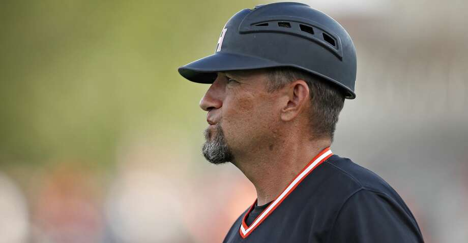 Sam Houston State coach Matt Deggs watches the team's play against Texas Tech during an NCAA college baseball regional tournament game in Lubbock, Texas, Sunday, June 4, 2017. (Brad Tollefson/Lubbock Avalanche-Journal via AP) Photo: Brad Tollefson/Associated Press