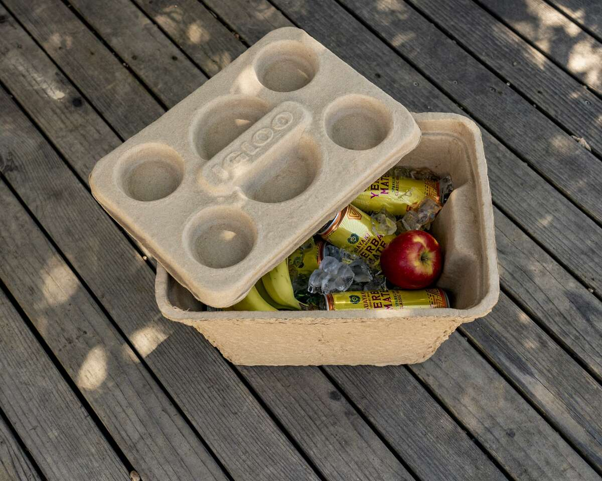 Made of a mixture of pulp and paraffin, Houston-based Igloo Products recently introduced Recool cooler is a sturdy, reusable, biodegradable option to inexpensive and fragile expanded polystyrene foam coolers