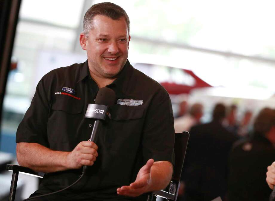 CHARLOTTE, NC - MAY 22: 2019  Tony Stewart reacts while giving an interview after being announced as part of the 2020 class during the NASCAR 2020 Hall of Fame announcement ceremony at the NASCAR Hall of Fame on May 22, 2019 in Charlotte, North Carolina. (Photo by Jason Miczek/Getty Images) Photo: Jason Miczek / 2019 Getty Images