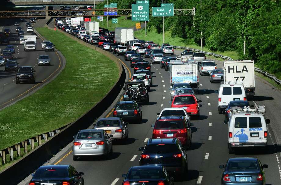 Gov. Ned Lamont's new transportation plan includes seeking federal loans that would reduce the number of tolls needed. Photo: Erik Trautmann / Hearst Connecticut Media / Connecticut Post