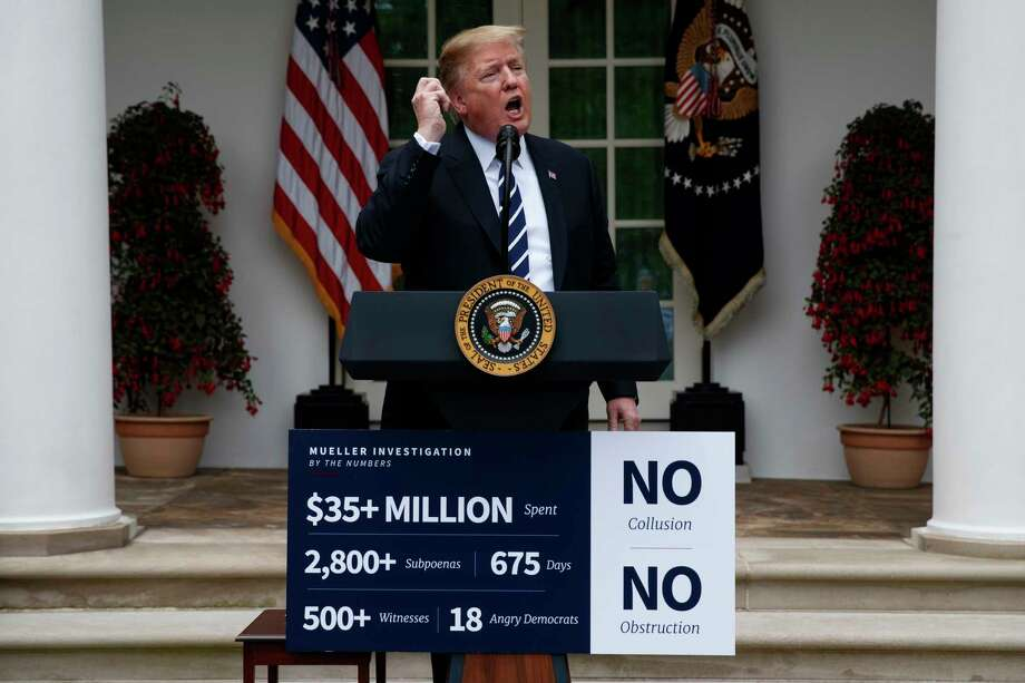 President Donald Trump delivers a statement in the Rose Garden of the White House, Wednesday, May 22, 2019, in Washington. Photo: Evan Vucci, AP / Copyright 2019 The Associated Press. All rights reserved.