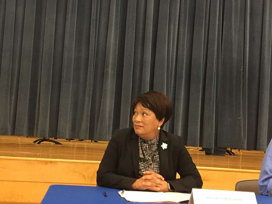 Mayor Toni Harp at second mayoral race forum. Photo: Mary E. O'Leary/Hearst Connecticut Media