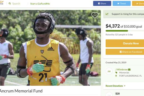South Florida Express set up a gofundme to cover the funeral expenses of Josh Ancrum.