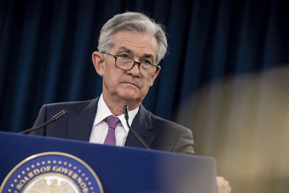 Jerome Powell, chairman of the Federal Reserve, during a press conference following the Federal Open Market Committee (FOMC) meeting in Washington on May 1, 2019. Photo: Bloomberg Photo By Anna Moneymaker. / The Washington Post