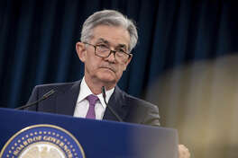 Jerome Powell, chairman of the Federal Reserve, during a press conference following the Federal Open Market Committee (FOMC) meeting in Washington on May 1, 2019.