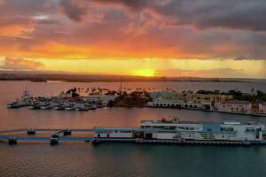 John Joel's photo of a sunset over San Juan while on a cruise with his fiance, Cathy Dwyer. (Provided)