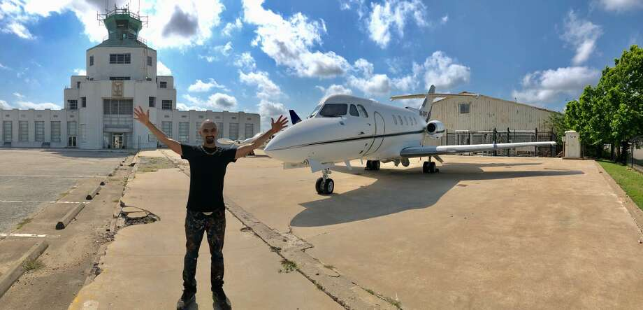 Houston graffiti artist Mario Figueroa Jr., best known as Gonzo247, will start painting a 1969 Hawker jet on Thursday, May 23, 2019.