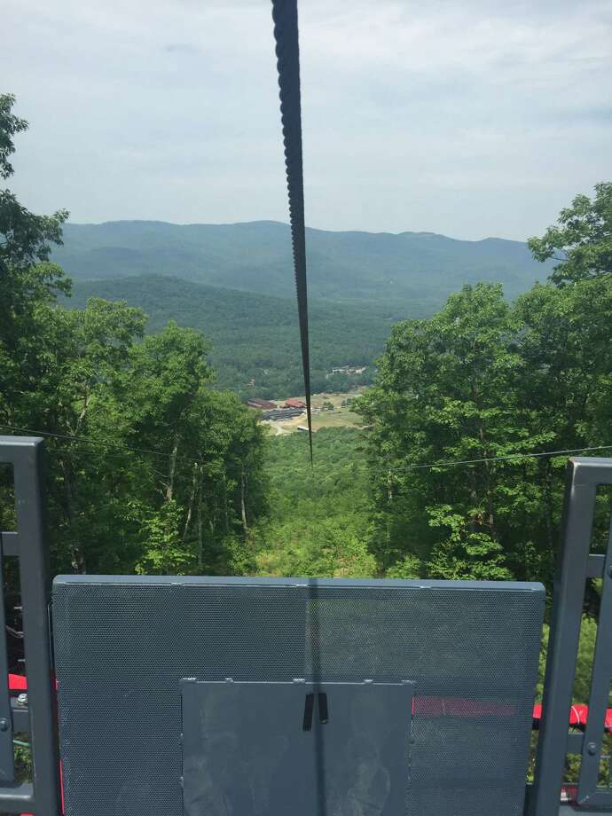 The new Eagle Flyer zip line on French Mountain in Lake George, N.Y. (Photo courtesy of K. Shaw Media, TU archives) Photo: K. Shaw Media