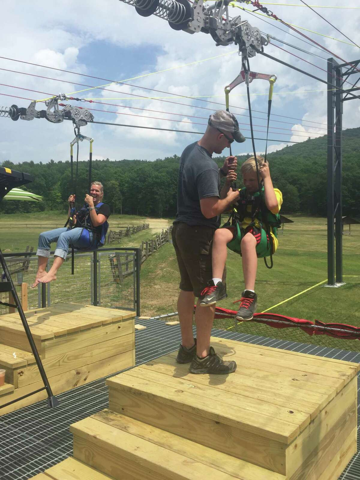 The new Eagle Flyer zip line on French Mountain in Lake George, N.Y. (Photo courtesy of K. Shaw Media, TU archives)