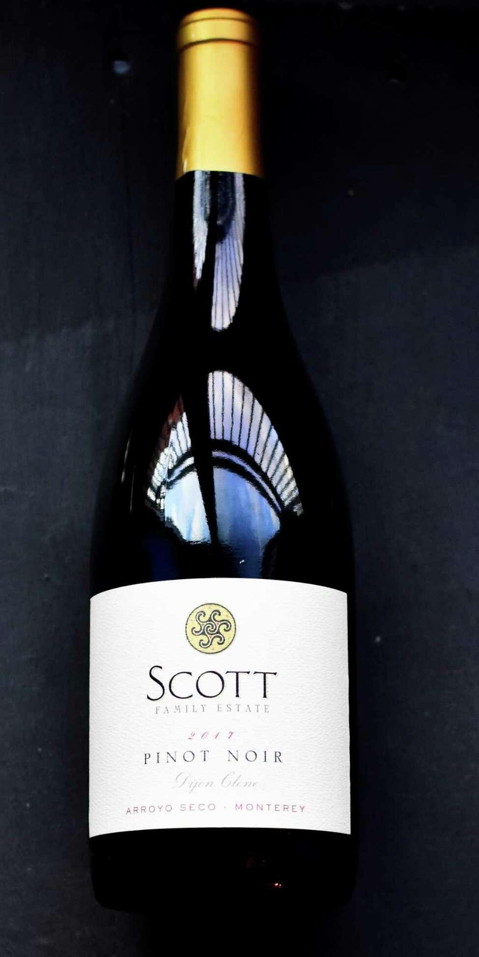 Label for Scott Family Estate pinot noir. (Steve Barnes/Times Union)