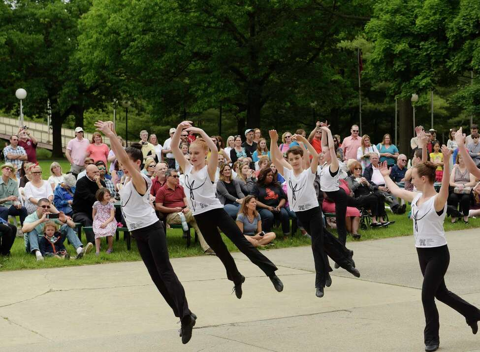 Members of the Northeast Ballet Company and Youth Ensemble perform at the Festival of Young Artists at the Saratoga Performing Arts Center on Sunday, June 3, 2018, in Saratoga Springs, N.Y. The event featured dancers, musicians, singers, poets, and visual artists from around the Capital Region. (Paul Buckowski/Times Union)