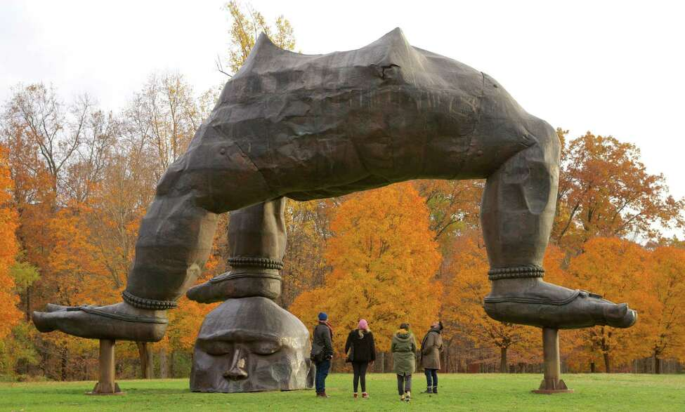Three Legged Buddha, one of the outdoor sculptures at Storm King. (Provided, Storm King Arts Center)