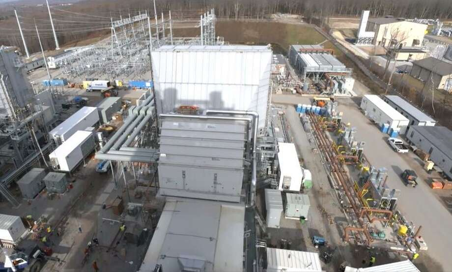 An aerial screen shot of the CPV Towantic Energy Center, in Oxford, from developer Competitive Power Ventures. Photo: Contributed Photo