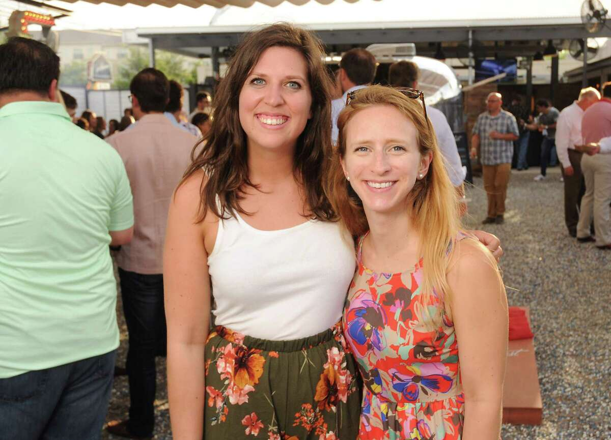 """Guests at the""""Texas Barbecue Blowout"""" party on May 22 at Armadillo Palace where Goode Co. owner Levi Goode debuted his new Yonderlust mobile bar."""