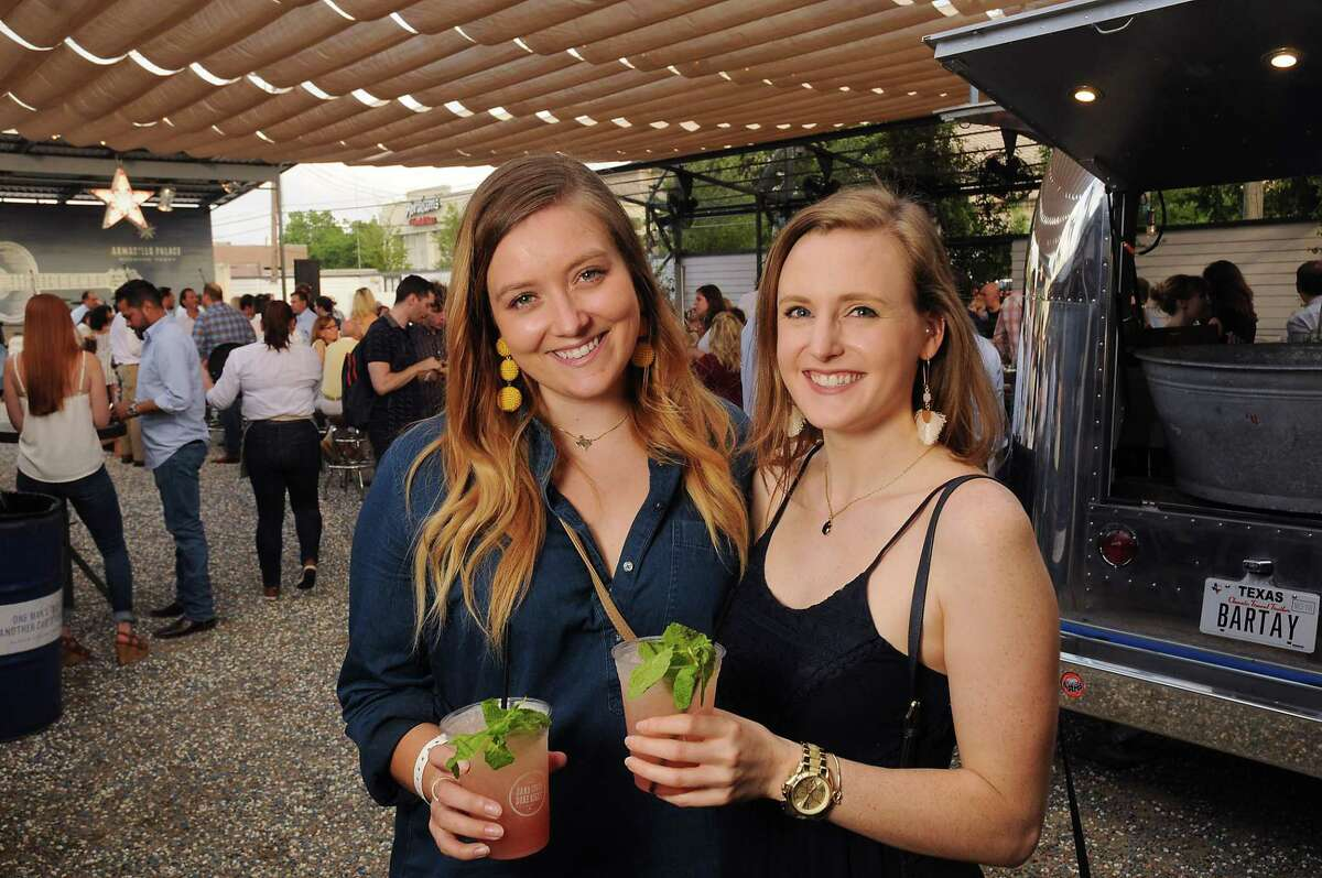 """Guests at the""""Texas Barbecue Blowout"""" party at Armadillo Palace where Goode Co. owner Levi Goode debuted his new Yonderlust mobile bar."""