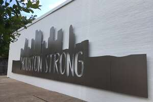 The 'Houston Strong' wall sculpture along Stella Link in the Braes Link shopping center is testament to the resilience of the community, according to Edifis Group.