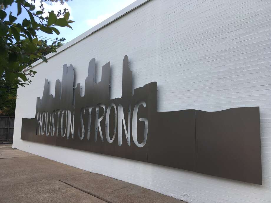 The 'Houston Strong' wall sculpture along Stella Link in the Braes Link shopping center is testament to the resilience of the community, according to Edifis Group. Photo: Katherine Feser  /  Houston Chronicle