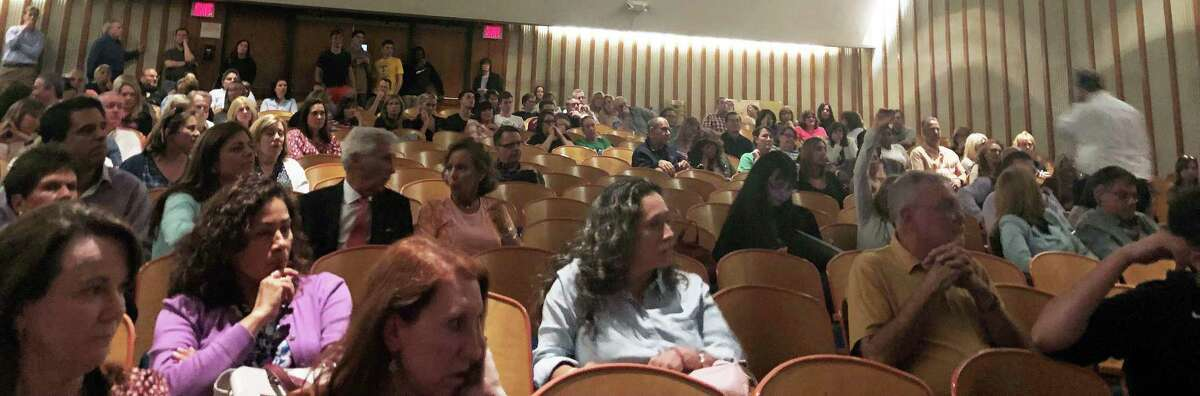 The Trinity Catholic High School auditorium was packed on May 22 for a community-wide meeting about the future of the school.