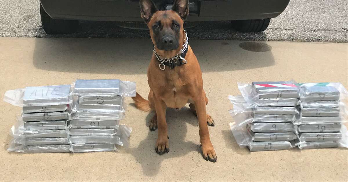 Date: Wednesday, May 22, 2019 Location: U.S. 59 near Kendleton Agency: Fort Bend County Sheriff's Office Seized: 64 pounds of cocaine Charge(s): Manufacturing/delivery of a controlled substance and unlawful use of a criminal instrument