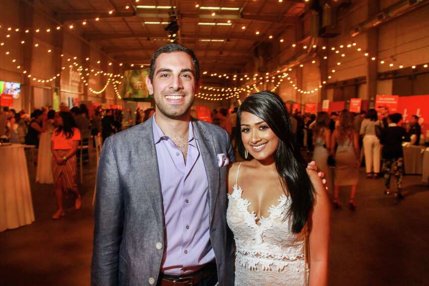 Jonathan Jaoude and Anisha Roy at Taste of the Nation.