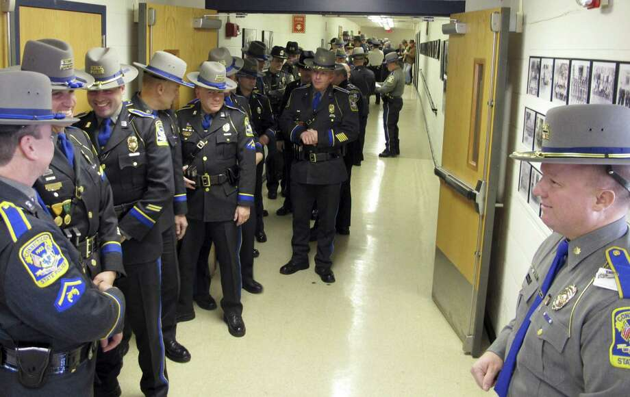 About 1,900 people have applied to become a Connecticut state trooper during the agency's recent push for new recruits. Photo: Dave Collins / Associated Press / AP