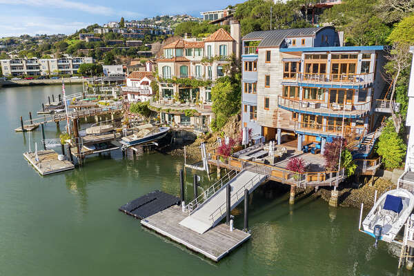 27 Bellevue Ave. in Belvedere is a 4,205-square-foot waterfront home that was built-in 2009 and features a private dock.
