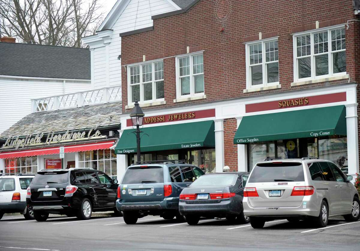 Wayne Addessi, who owns Addessi Jewelers at 387 Main Street, believes the addition of a left turning lane onto Catoonah Street will interfere with drivers coming in and out of the diagonal parking spaces in front of his store.