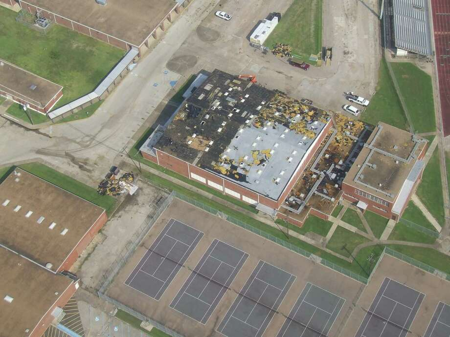The Deer Park High School North Campus gym was damaged as Hurricane Ike made landfall in 2008. The city of Deer Park is seeking to reach residents with information about this year's hurricane season and has updated its emergency preparedness guide. Photo: Jeri Martinez / Broadcaster / Broadcaster