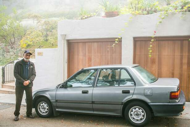 O'Neill Dillon of Berkeley drives a 1990 Honda Civic