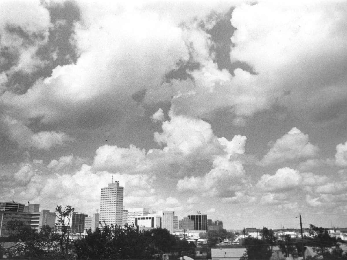 The Midland skyline on July 1976
