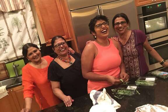 "Urmila with her mom and aunts at Thanksgiving dinner 2017 (L to R: Sabita Roy, Namita ""Moni"" Roy, Urmila Ramakrishnan, Kabita Roy)."