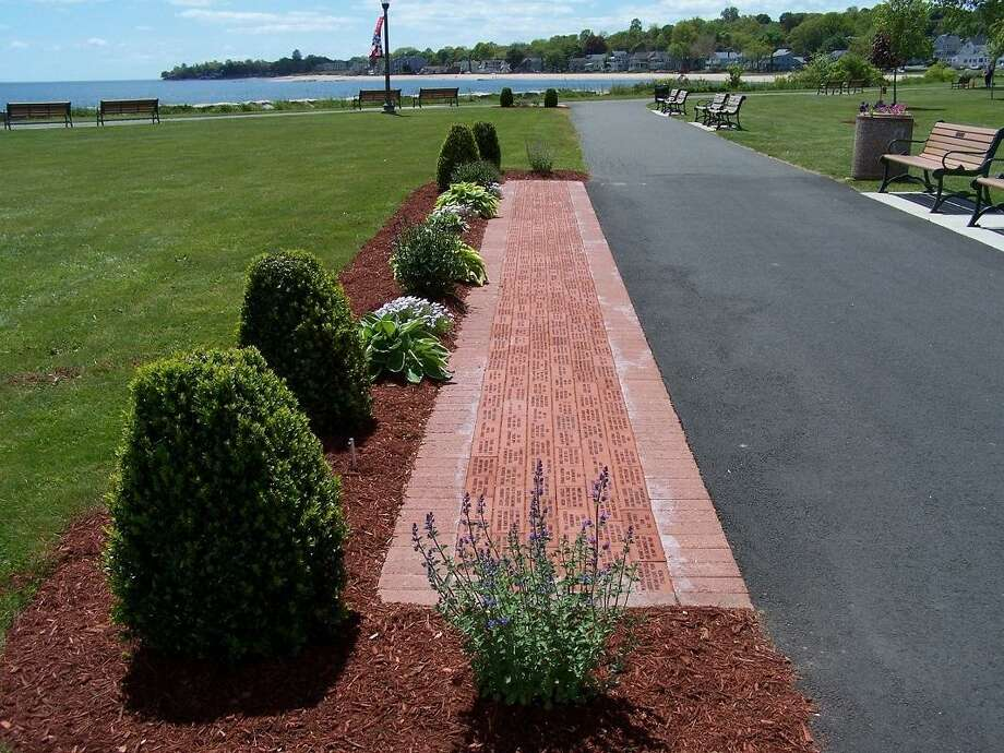 The brick Veterans Walk of Honor in Bradley Point Park. Photo: Michael P. Walsh, City Of West Haven / Contributed Photo