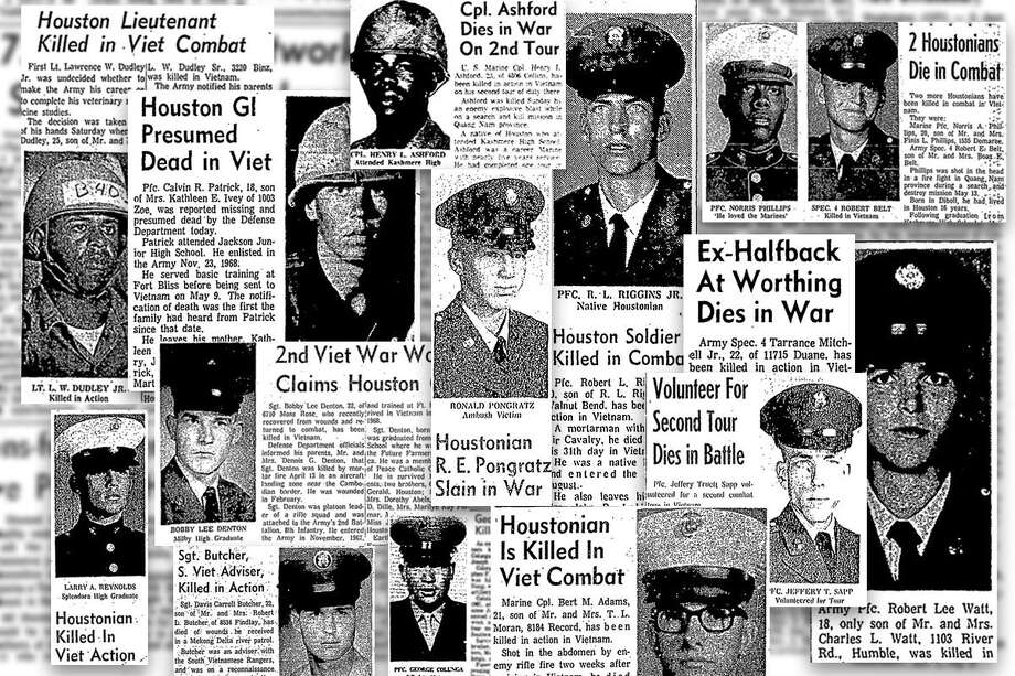 During the spring and summer of 1969, the deaths of Houstonians killed in the war in Vietnam shared space on the front page of the Houston Chronicle with the space race, campus unrest and other news. Photo: Houston Chronicle File
