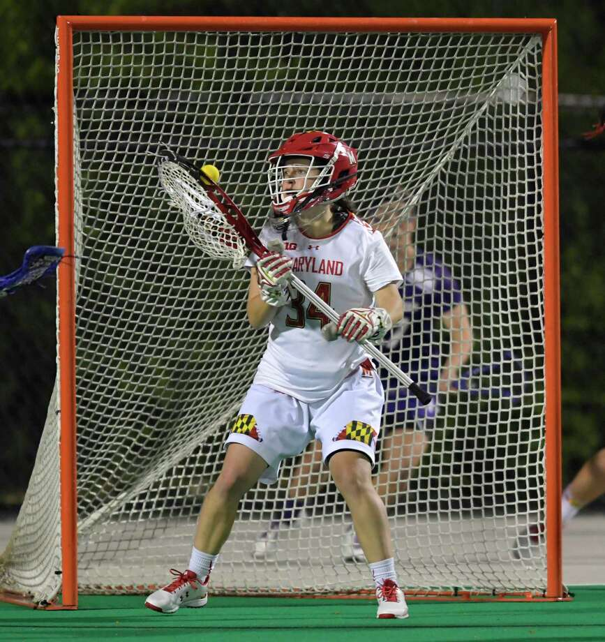 Maryland senior Megan Taylor is just the second goalie to be named a finalist for the Tewaaraton Award given to the nation's best player. Photo: Photo For The Washington Post By Doug Kapustin / Doug Kapustin