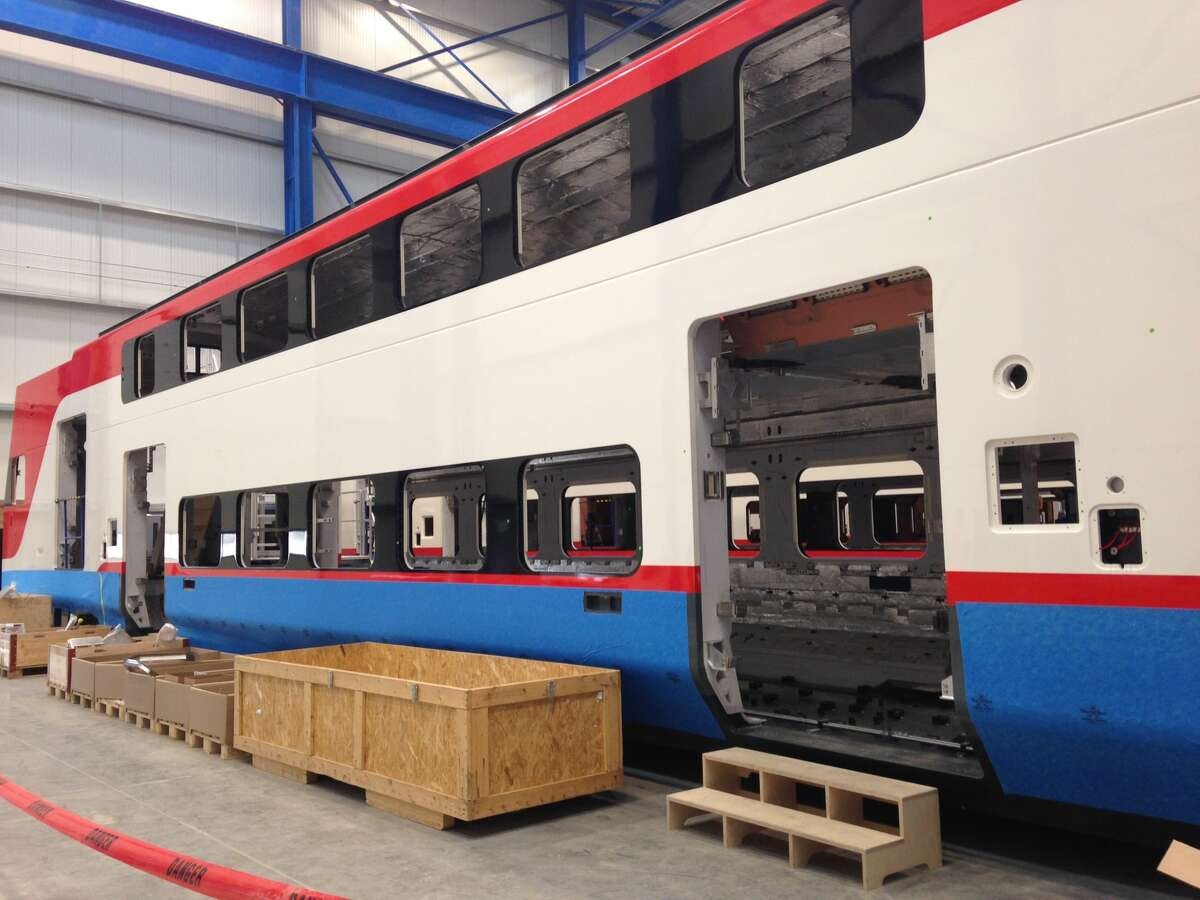 CalMod, the group behind the Caltrain electrification project, shared these images of the future fleet of Caltrain under construction in Salt Lake City.