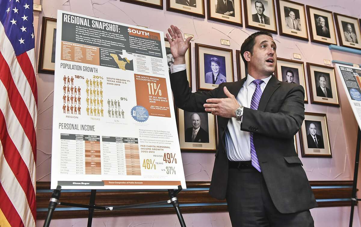 File Photo: Texas Comptroller Glenn Hegar talked about the future of the South Texas Region's economy in May.