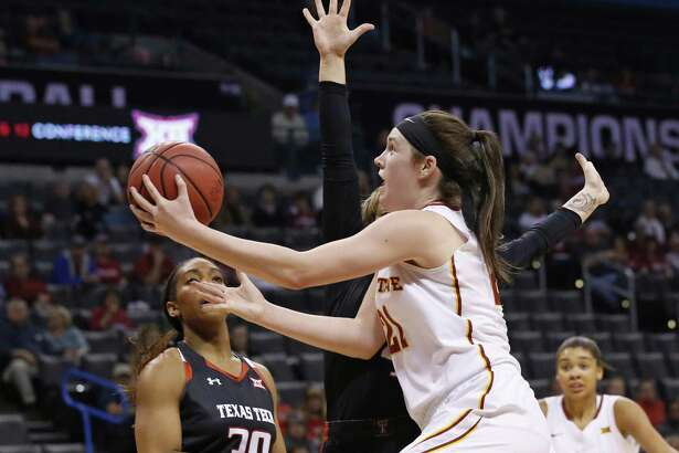 Former Iowa State star Bridget Carleton, right, will be on the Sun's roster to open the season.
