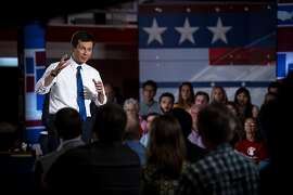 CLAREMONT, NH - MAY 19: South Bend, Indiana Mayor Pete Buttigieg speaks during a town hall with Fox News Channel on May 18, 2019 in Claremont, New Hampshire. Buttigieg, one of 23 Democrats seeking the 2020 presidential nomination, pitched four distinct tax hikes at the event when asked about the deficit. (Photo by Sarah Rice/Getty Images)