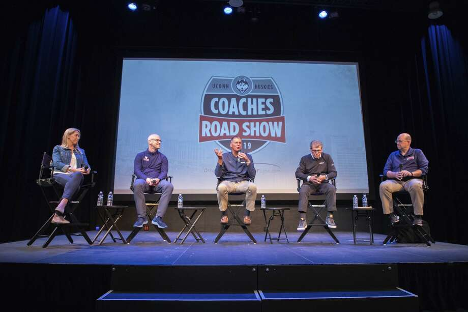 Day 2 of the UConn Coaches Road Show in Branford, Waterbury and Torrington on May 22, 2019 Photo: Jason Reider / UConn Athletics
